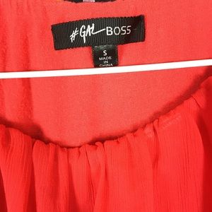 Nasty Gal Tops - NASTY GAL / Red Chiffon Blouse